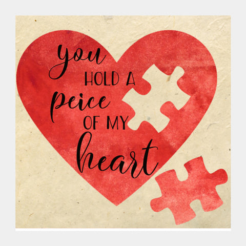 Peice of heart Square Art Prints | Artist : Not Just Doodle