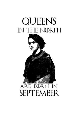 Game Of Thrones  Arya Stark  Queens  September Art PosterGully Specials