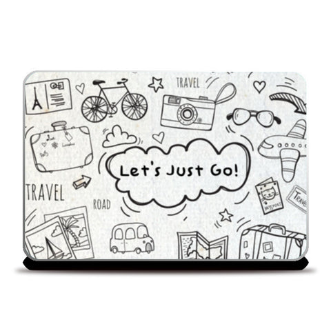 let's just go Laptop Skins | Artist : DISHA BHANOT