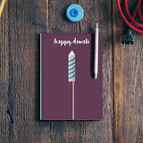 Happy Diwali Minimal Notebook | Artist : Virtual Paintings