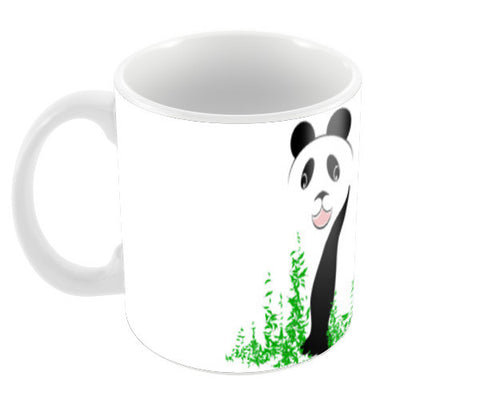 THE PANDA is a symbol of gentleness and strength. it is an auspicious symbol of peace, harmony Coffee Mugs | Artist : amit kumar