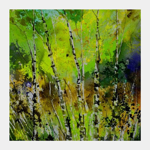 Square Art Prints, Birchtrees 51 Square Art Prints | Artist : pol ledent, - PosterGully