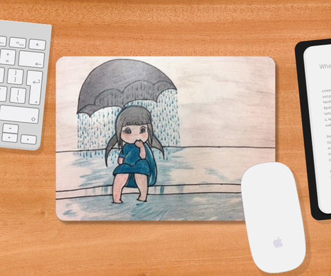 Lonely Girl | Sketch | Mousepad | Artist : Nandini Rawat