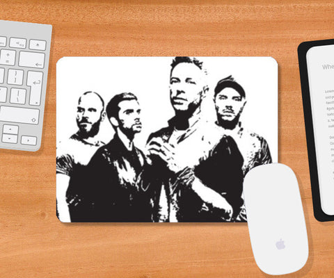 COLDPLAY BAND Mousepad | Artist : Kau.Vish