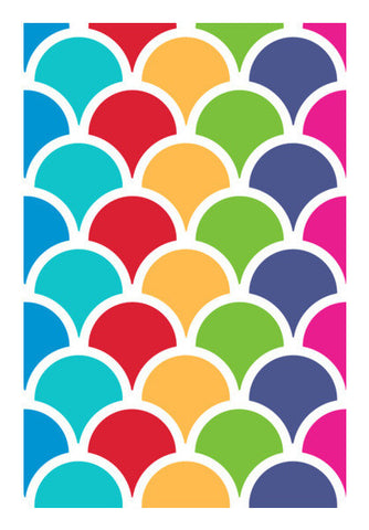 Geometric Stripe Colors Art PosterGully Specials