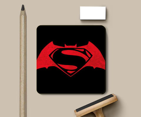 1  Batman v Superman | Minimal | Superhero | DC | Comicbook | Justice League Coasters | Artist : Praband Bhatt