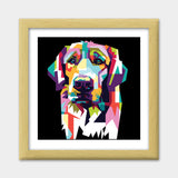 Dog Lovers Premium Square Italian Wooden Frames | Artist : Inderpreet Singh