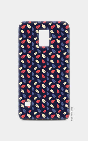 Seamless leaves multicolor vector pattern Samsung S5 Cases | Artist : Designerchennai