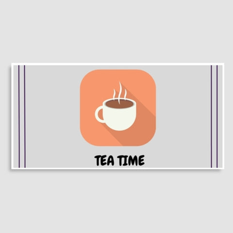 Tea Time Madness Door Poster | Artist : Pallavi Rawal