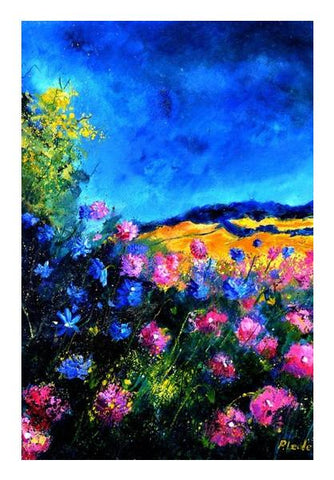 PosterGully Specials, Pink wild flowers 45 Wall Art | Artist : pol ledent | PosterGully Specials, - PosterGully