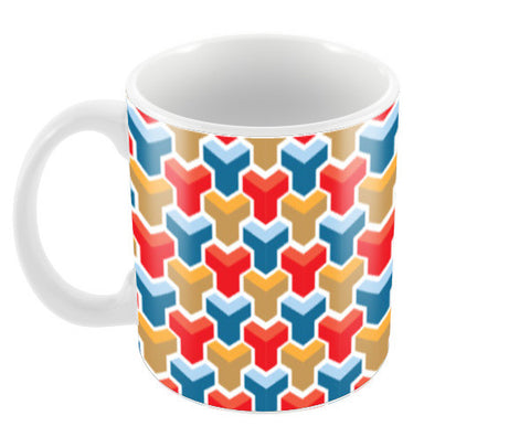 Polygonal Patterns Coffee Mugs | Artist : Delusion