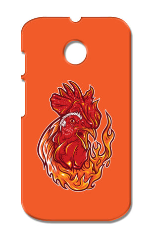 Rooster On Fire Moto E XT1021 Cases | Artist : Inderpreet Singh