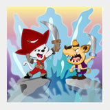Square Art Prints, Pirate Fight Square Art Prints | Artist : Madhumita Mukherjee, - PosterGully