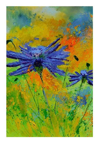 PosterGully Specials, two cornflowers Wall Art | Artist : pol ledent, - PosterGully