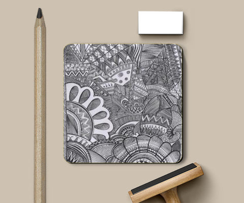 Coasters, mingled doodle coaster. Coasters | Artist : Shruti aggarwal, - PosterGully