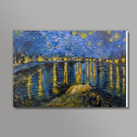 Starry night over the Rhone -Van Gogh Metal Prints | Artist : Sukanya Chakraborty