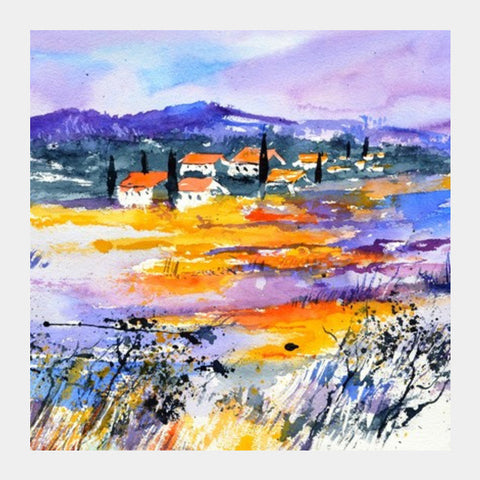 Square Art Prints, Watercolour provence 69 Square Art Prints | Artist : pol ledent, - PosterGully