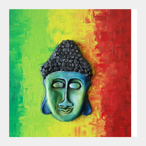 Sculpted Buddha by Lavanya Square Art Prints | Artist : Lavanya Subramanian