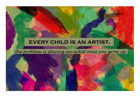 Every child is an artist Wall Art  | Artist : Surabhi Purwar