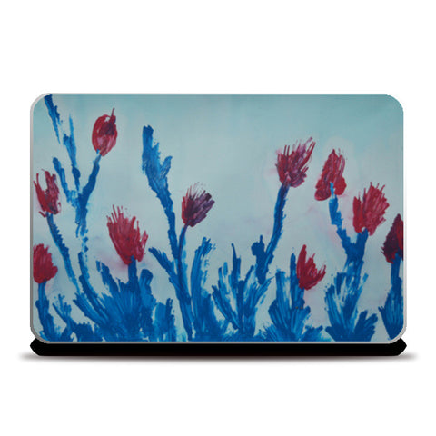 Tulip Abstract Laptop Skins | Artist : Athira V