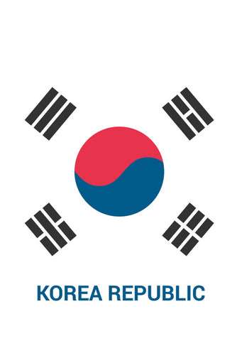Korea Republic | #Footballfan Wall Art | Artist : Creative DJ