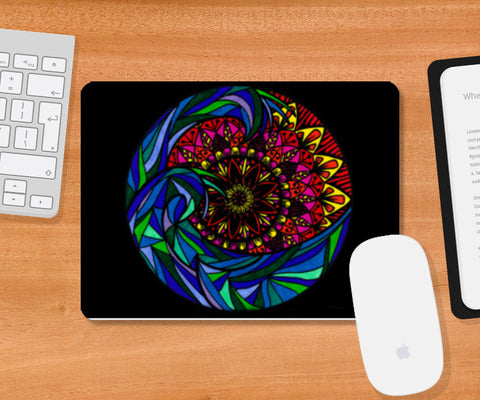The Mandala Wave Mousepad | Artist : Gursimran Kaur