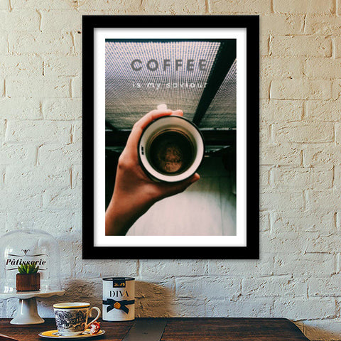 Coffee is my saviour  Premium Italian Wooden Frames | Artist : nandita sharma