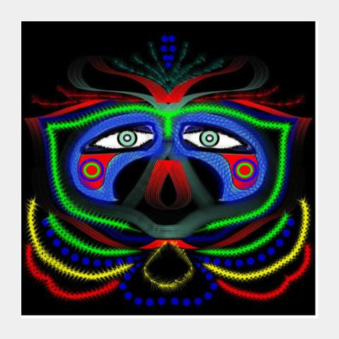 Square Art Prints, The eyes behind the mask Square Art Prints | Pratyasha Nithin, - PosterGully