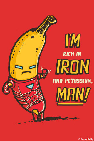 Wall Art, Tony Goes Bananas - Red | By Captain Kyso, - PosterGully - 1