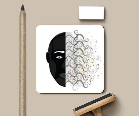 PosterGully Coasters, Abstract FAce coaster Coasters | Artist : vazir singh, - PosterGully
