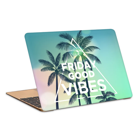Friday Good Vibes Artwork Laptop Skin