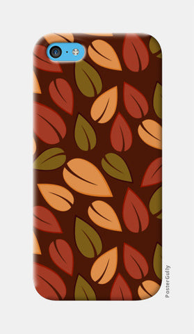 Seamless colored autumn leaves pattern iPhone 5c Cases | Artist : Designerchennai