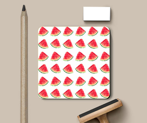 Coasters, Watermelon Pattern Coaster | Artist: Anuja Katti, - PosterGully