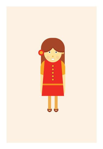 PosterGully Specials, Little cute girl Wall Art | Artist : Mani Selvam, - PosterGully