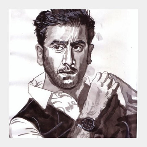 PosterGully Specials, Ranbir Kapoor is versatile and hungry for excellence Square Art Prints | Artist : HeartAtArt, - PosterGully