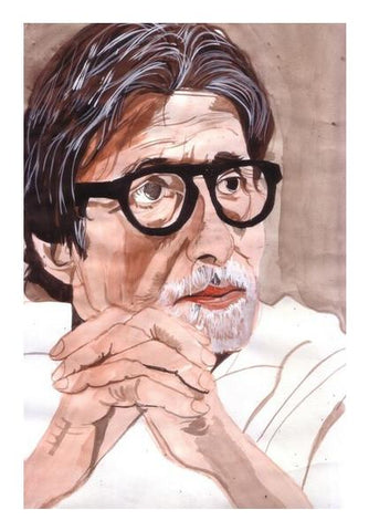 PosterGully Specials, Amitabh Bachchan is one of the biggest superstars of Bollywood Wall Art | Artist : HeartAtArt, - PosterGully
