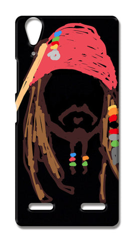 Jack Sparrow, Pirates Of The Caribbean, Minimal, Doodle, Sketch (Movie/Fantasy) Lenovo A6000 Cases | Artist : Praband Bhatt