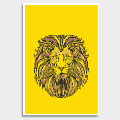 Lion Pop Art  Giant Poster | Artist : Inderpreet Singh