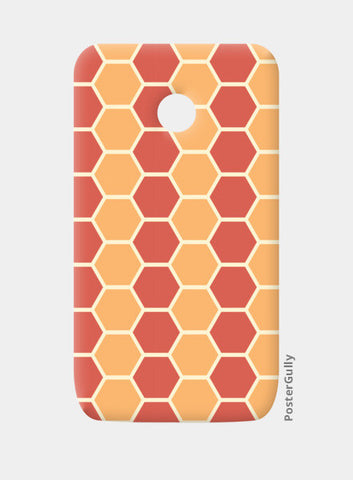Hexagonal tiling pattern Moto E Cases | Artist : Designerchennai