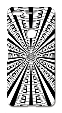 Abstract Geometric Black And White Designer Pattern Google Pixel XL Cases | Artist : Seema Hooda