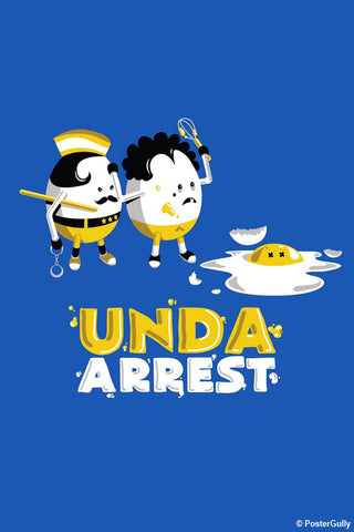 Wall Art, Unda Arrest - Blue | By Captain Kyso, - PosterGully - 1