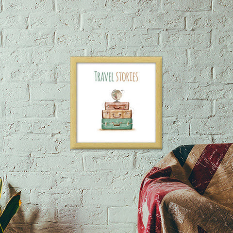 Travel Stories Premium Square Italian Wooden Frames | Artist : Colour me expressive
