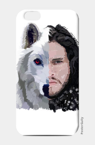iPhone 6 / 6s, Jon Snow and Ghost  Game of Thrones iPhone 6 / 6s Case | Artist: Armaan Sandhu, - PosterGully