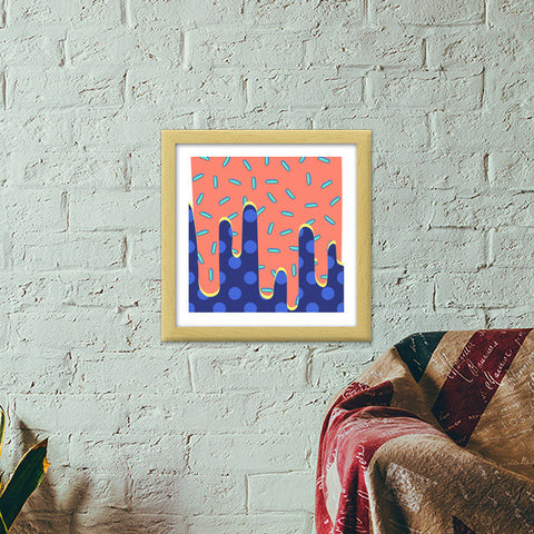 Candy Drip Premium Square Italian Wooden Frames | Artist : art_riot