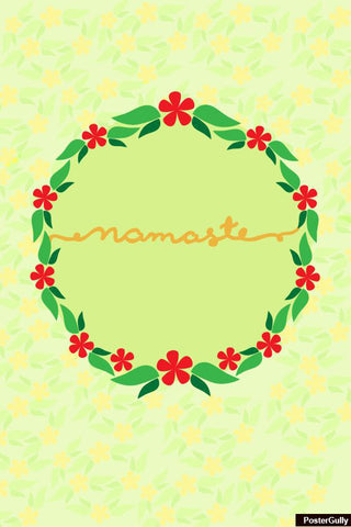 Brand New Designs, Namaste Typography Artwork | Artist: Simran Anand, - PosterGully - 1
