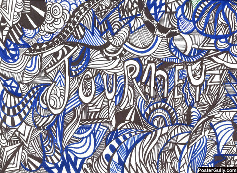 Wall Art, Abstract Journey Doodle Art | Artist: Needhi Dhoker, - PosterGully - 1