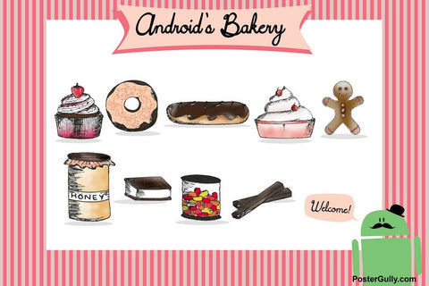 Wall Art, Android's Bakery Artwork | Artist: Simran Anand, - PosterGully - 1