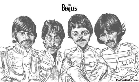Wall Art, Beatles Sketch Unsigned Artwork | Artist: Sri Priyatham, - PosterGully - 1