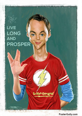 Wall Art, Sheldon Cooper Artwork | Artist: Sri Priyatham, - PosterGully - 1