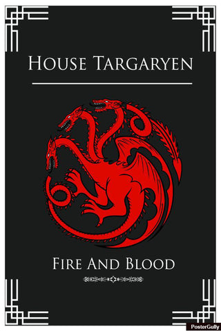 Wall Art, House Targaryen Artwork | Artist: Palna Patel, - PosterGully - 1